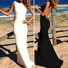 Sexy Summer Womens Backless Tail Party Prom Bridesmaid Gown Evening Maxi Dress