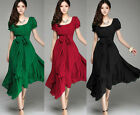 Black/Red/Green CHEAP SALE Lady Summer Beach Party Prom Cocktail Long Maxi Dress