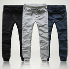 CHEAP MENSWEAR~ new fashion men's solid color casual loose sports pants trousers