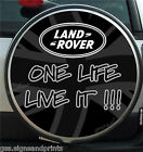 UNION JACK GREY & BLACK (LAND ROVER) WHEEL COVER STICKER 4X4 (CHOICE OF SIZES)
