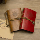 Vintage PU Faux Leather Cover Traveller's Handbook Diary Travel Journal Notebook