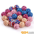 10mm pave sparkle SWAROVSKI beads mixed lots of colors jewelry making design DIY