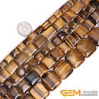 Genuine Square Tiger eye Gemstone Jewelry Making Beads Spacer Craft Strand 15""