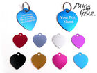 Pet ID Tags Personalised Engraved Anodized Aluminium Dog Cat Hearts by PawGear