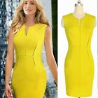 Sexy Women's New Front Zipper Bodycon Business Mini Dress Cocktail Party Fitted