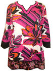 ULLA POPKEN Stretch Cotton PINK FLORAL EMBROIDERED Tunic Top Szs 12/14 to 20/22