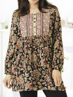 ULLA POPKEN Che Long Sleeve Garden Embroidered Tunic Top Sizes 12/14 to 28/30