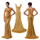 2015 NEW Long Mermaid V-Neck Evening Party Ball Gown Prom Bridesmaid Dress 12-20