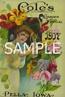Fabric Art Quilt Block Vintage Seed Packet  15-034