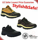 "Mens Work Boots 4"" Short Winter Snow Boots Work Shoes Leather Waterproof 7014"