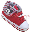 Baby Boy Girl Red Mickey Mouse Crib Shoes Toddler Sneakers Newborn to 18 Months