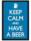 Black Wooden Framed Keep Calm and Have a Beer Maxi Poster 61x91.5cm