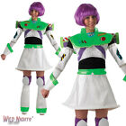 FANCY DRESS COSTUME ~ LADIES DISNEY PIXAR TOY STORY BUZZ LIGHTYEAR SIZES 8-18