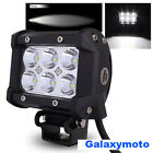 """3.5"""" Cree White 6 LED 18w Flood Beam Off Road Roof Back Driving Work Light bar"""