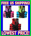 Jet Pilot RECRUIT Neoprene 2015 USCG Approved Life Vest Jacket Blue Red Pink