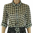 Older Girls Kylie Black & White Checked Shirt Smart Casual Blouse Summer Teenage