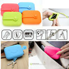 Fashion Silicone Earphone Card Holder Key Chain Case Mini Purse Handbag Wallet