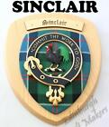 SINCLAIR CLAN CREST WALL PLAQUE PLAQUES AVAILABLE IN ANY CLAN NAME