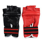 Gym Pro MMA Muay Thai Training PU Leather Half Mitts Sparring Boxing Gloves