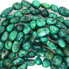 "6-10mm green african turquoise nugget beads 15"" strand"