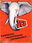 JCB Powerful, Industrious, Dependable Red Tin Sign 30x40cm
