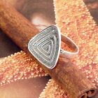 STERLING SILVER NO STONE TRIANGLE RING SOLID .925/1000 NEW SIZE J-Y JEWELLERY
