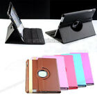 Fashion Rotating Magnetic PU Leather Stand Smart Case Cover for Apple iPad 2 3 4