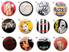 "1"" (25mm) Blondie / Debbie Harry Button Badge Pins - 70's & 80's Music"