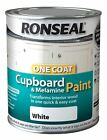 RONSEAL ONE COAT CUPBOARD MELAMINE & MDF PAINT 750ML - 6 COLOURS