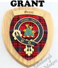 GRANT CLAN CREST WALL PLAQUE PLAQUES AVAILABLE IN ANY CLAN NAME
