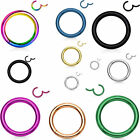 Hinged Septum Clicker Segment Nose Ring Lip Ear Cartilage Daith 18G,16G,14G- ONE
