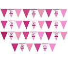 Pertfectly PINK/Girl Age Birthday Paper Flag BUNTINGS (12ft) (Celebration/Party)