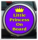 LITTLE PRINCESS ON BOARD ( PURPLE ) WHEEL COVER STICKER 4X4 (CHOICE OF SIZES)