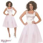 FANCY DRESS COSTUME # LADIES 80s DIRTY DANCING BABY DRESS & WIG SIZE 8-14