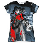 Harley Quinn Nice Shot DC Comics All Over Sublimation Poly Junior Shirt S-XXL