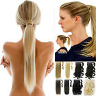 Clip In Pony Tail Hair Extensions Pieces Silky Straight Ponytail Pieces natural