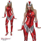 LADIES RESCUE AVENGERS MARVEL SUPERHERO FANCY DRESS COSTUME