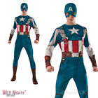 MENS RETRO CAPTAIN AMERICA MARVEL AVENGERS SUPERHERO FANCY DRESS COSTUME