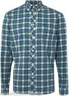 FRED PERRY Shirt Men's Brushed Cotton Tartan Check Blue Size: X-Large
