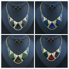 New Fashion Crystal Chunky Statement Bib Pendant Chain Choker Necklace  Jewelry