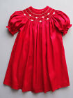 Luli & Me Red Silk Bishop Holiday Dress Baby & Toddlerl Sizes 12M-4T $78-$80 NWT
