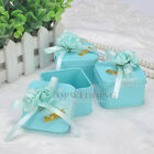 12PCS Square Tin Favor Boxes Wedding Party Decor Gift Candy Box Baby Shower NEW