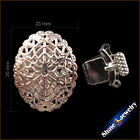 2/5/10 PCS 4 Strings 23mm Filigree Flower Box Clasps Accessories Jewelry Finding