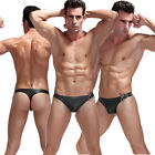 Sexy Mens Underwear Briefs Hook Leather Thong Underpants G-string Short Pants