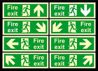 Photoluminescent Fire Exit Directional Arrows Signs - All Materials 100x300mm