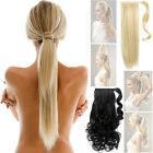 Clip in Pony Tail Hair Extensions Wrap Around straight curly SUPERIOR QUALITY