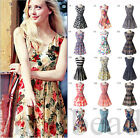 New Sweet Womens Summer Beach Sleeveless Dress Slim Casual Stretch Sundress Mini
