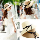 Women's Ladies Wide Brim Summer Beach Sun Hat Straw floppy Elegant Bohemia Cap