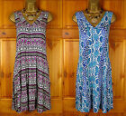 NEW M&S BLACK PURPLE BLUE WHITE SUMMER TUNIC BEACH DRESS TOP UK SIZE 10-22
