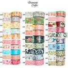 Washi Tape Decorative Masking Adhesive Paper Craft Trim - Flowers 1